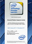 Intel Technology Provider Gold 2011